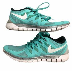 Nike Free Run 5.0 light teal shoes